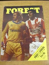 11/04/1981 Nottingham Forest v Liverpool  (the item is in good/very good conditi