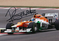 Rodolfo Gonzalez Signed 5X7 Inches Force India F1 Photo