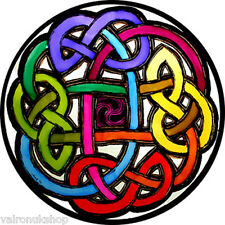 STAINED GLASS WINDOW ART - STATIC CLING  DECORATION - CELTIC ETERNAL KNOT