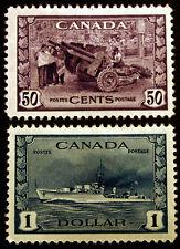 Canada #261 50c Violet & #262 $1 Deep Blue VF MLH CV $150