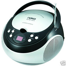 NAXA Electronics Portable CD Player with AM/FM Stereo Radio (Black) NEW