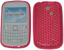 For Samsung Ch@t 335 T335 S3350 S3353 Pattern Gel Case Protector Cover Pink UK
