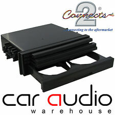 CT24UV19 Universal Single Din Fascia Tray CD Storage and Cup Drink Holder Black