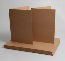 Kraft Recycled Folded A4 cards (pack of 25) perfect for printing