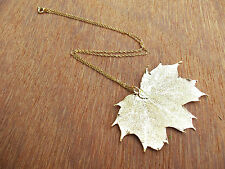 Sugar Maple Real Leaf 24k Gold Dipped/Plated Pandant, Necklace Chain, Edel-Heid