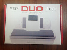 Tecnoplus Duo Stereo Desktop Speaker for iPod, PSP, Nano, Phone, iPad   BNIB