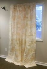 "White Gold CHATEAU DU LOIR Toile Drapes Curtains Double Lined 89""L - SET OF 2"