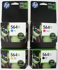 4-PACK HP GENUINE 564XL Black & Color Ink  Photosmart 6520 7520 5520 Exp 2017-18