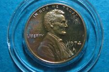 "1974-S  ""PROOF"" U.S. LINCOLN PENNY, UNCIRCULATED San Francisco Mint LC#1"