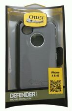 OtterBox Defender Series Case and Holster for iPhone 4/4S White/Gray