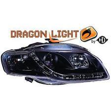 Coppia fari fanali anteriori TUNING AUDI A4 04-08 nero con Dayline a LED