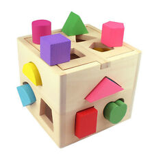Kids Baby Wooden Building Block Toddler Toys for Boys Girls Learning Toy Tool