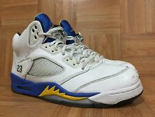RARE�� Nike Air Jordan 5 V Retro Laney White Varsity Maize Royal 10.5 136027-189