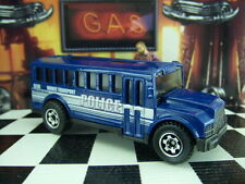 MATCHBOX 2004 SCHOOL BUS POLICE DEPARTMENT LOOSE 1:64 SCALE