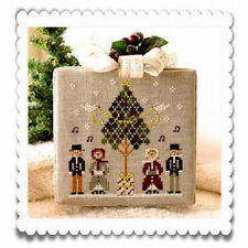 10% Off LHN counted x-stitch chart - Hometown Holiday - Caroling Quartet #3