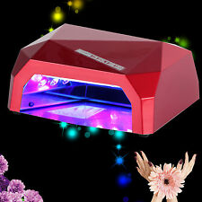 US/DE Stock 36W LED &CCFL UV Nail Lamp Gel Nail Dryer Light Timer Curing Polish