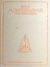 Alexander KOCH Darmstadt 1920 ° 600 Art Deco Monogramme für Kunstgewerbler