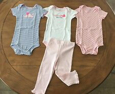 USED ONCE!! JOY By Carter's Baby Girl 18-24 Months Mix & Match Whales