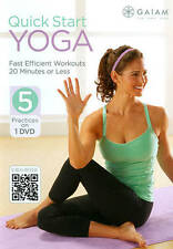 Gaiam QUICK START YOGA DVD 5 Practices Workout Exercise Fitness NEW ef