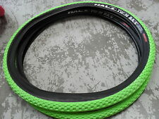 HALO TWIN ferrovia PNEUMATICI (COPPIA) MOUNTAIN BIKE (Puncture Resistente) tyhat62 GREEN 26 ""