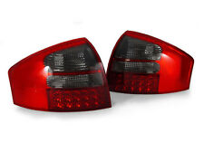 DEPO 1998-2004 AUDI A6/S6/RS6 C5 4DR SEDAN EURO RED/SMOKED LED TAIL LIGHTS REAR