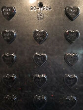 """1"""" BITE SIZE BABY GIRL HEART CHOC MOLD molds Chocolate Candy it's a girl shower"""