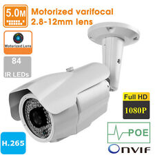 5MP H.265 HD 1080P Outdoor Motorized varifocal 2.8-12mm lens PoE IP Camera