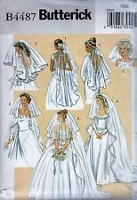 Butterick B4487  Misses Bridal Veil Sewing Pattern