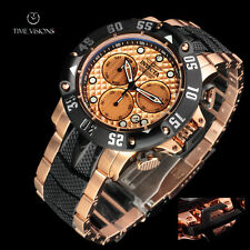 Invicta 50mm Subaqua Poseidon 18kt Rose Gold Plated Chronograph Bracelet Watch