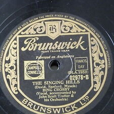 78rpm BING CROSBY the singing hills / devil may care