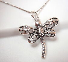 Small Dragonfly Pendant 925 Sterling Silver Corona Sun Jewelry