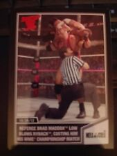2013 Topps Best of WWE #56 Referee Brad Maddox Low Blows Ryback RED Mint