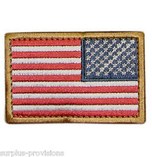"Condor - Reverse American Flag Patch - 2"" x 3""- Red, White & Blue w/Velcro Back"