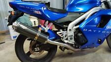 TRIUMPH DAYTONA 955I 97-06  Carbon Oval Single outlet ROAD LEGAL exhaust