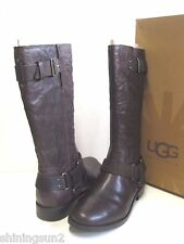 Ugg Damien Lodge Leather Women Boots US10/UK8.5/EU41/JP27