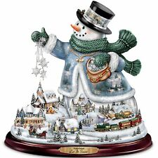 THOMAS KINKADE MUSICAL SNOWMAN CHRISTMAS  HOLIDAY FIGURINE DECOR NEW