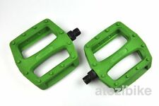 [US SELLER] Wellgo Platform Pedals MBT BMX Road Bike Bicycle Fixed Gear - Green