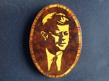 Rare Vintage wooden plaque of President Kennedy.
