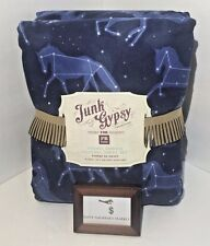 POTTERY BARN TEEN JUNK GYPSY COSMIC HORSES FLANNEL SHEET SET XL TWIN SIZE NEW