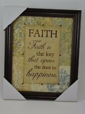 Wall Art Picture Frame Sign Faith is the key that opens the door to happiness #1