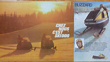 SKI-DOO 1971 SNOWMOBILES BROCHURE CATALOG ORIGINAL VINTAGE DEALER SALES BLIZZARD