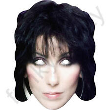 Cher Celebrity Retro 1980's Card Face Mask. All Our Masks Are Pre-Cut!