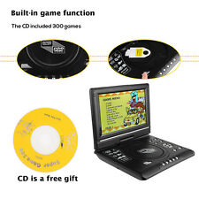 9.8''Portable CD/DVD Player HD Widescreen Display Built-in Rechargeable+Game USB