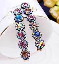 USA Quality Bobby Pin Hair Clip using Swarovski Crystal Hairpin Multi Color