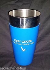 GREY GOOSE VODKA STAINLESS STEEL & FROSTED GLASS COCKTAIL DRINK SHAKER BAR MIXER
