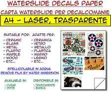 5 fogli A4 carta decalcomanie per laser, trasparente - waterslide decals paper