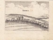 Großau Bad Vöslau Niederösterreich Orig Kupferstich G. M. Vischer 1672