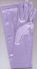 "23"" LILAC LAVENDER STRETCH SATIN WEDDING PROM COSPLAY PARTY COSTUME OPERA GLOVES"