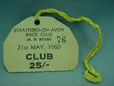 Strartford On Avon Race Club Day Pass Badge May 21st 1960 W Buttonhole Lanyard