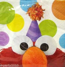SESAME STREET SMALL NAPKINS (16) ~ Elmo Birthday Party Supplies Cake Dessert